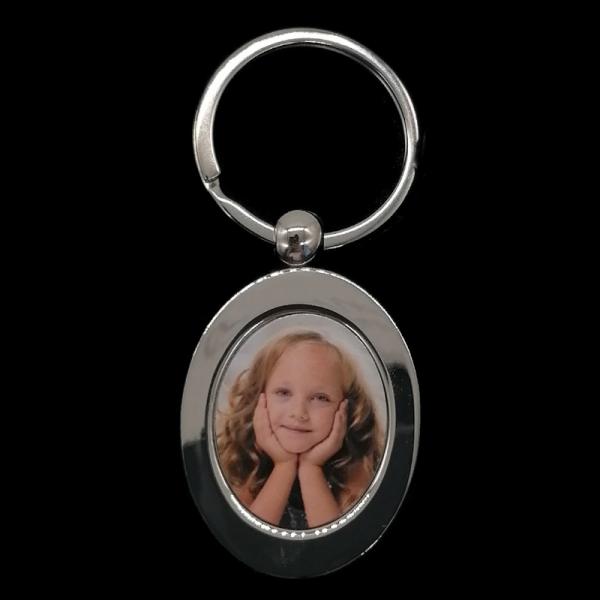 """Schlüsselanhänger """"Oval"""" mit Foto"""