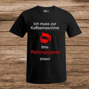 T-Shirt Kaffee spruch schwarz