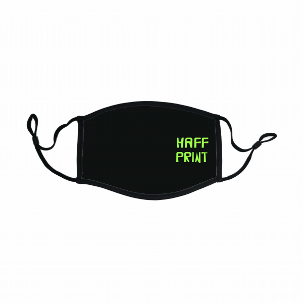 Community Maske mit Logo Haff Print schwarz