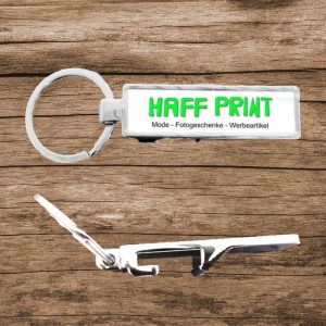 Werbeartikel Flaschenöffner Schlüsselanhänger