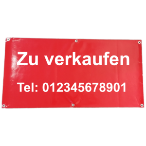 Banner zu verkaufen mit Telefonnummer