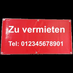 Banner zu vermieten mit Telefonnummer