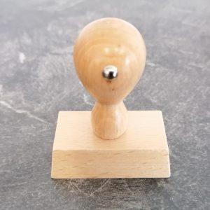 Holzstempel 30x50mm 6 Zeilen